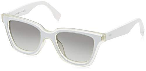 Fendi Damen Ff 0195/S Vk Sonnenbrille, Weiß (Mtcry White/Grey Sf), 50