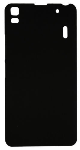 SDO™ Matte Finish Rubberised Slim Hard Case Back Cover for Lenovo K3 Note / Lenovo A7000 Turbo Back Cover - Black
