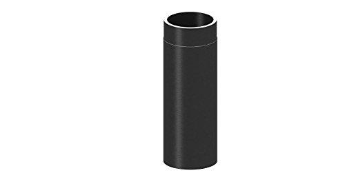 Ofenrohr Längenelement doppelwandig, mit 500mm Länge, Ø 150mm Durchmesser; schwarz