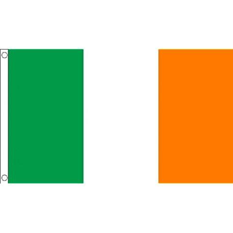 ENORME! 243,84 cm x 152,4 cm (240 x 150 cm) Irlanda irlandés St Patricks Day 100% Material de poliéster bandera de la bandera Ideal para Pub Club Festival de la escuela de negocios