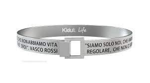 Bracciale Kidult per Uomo in Acciaio a Fascia con Scritta Vasco Rossi -LIFE Free Time- 731480L