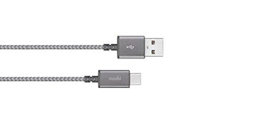 Moshi 99MO084211 Integra USB-C auf USB-A Lade/Sync Kabel Titanium grau