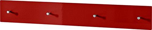 Germania 3452-118 Garderobenpaneel Colorado in Rot Hochglanz, 106 x 15 x 5 cm (BxHxT)