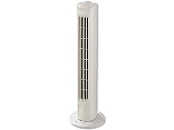 Interior Exclusive Säulenventilator/Turmventilator 78cm, 3 Stufen Standventilator, Oszillierender Ventilator, 45 W, weiss (Motor Ventilator Klimaanlage)