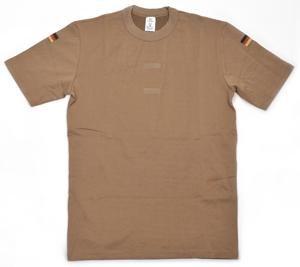 Original Bundeswehr Tropen T-Shirt Unterhemd khaki mit Hoheitsabzeichen Farbe Khaki Größe 10