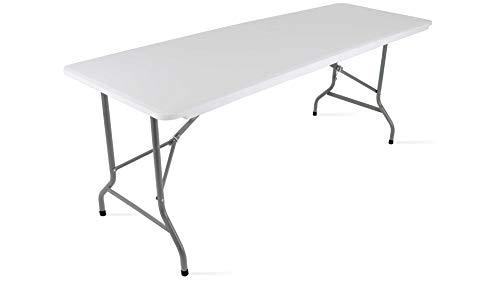 MobEventPro Campingtisch, klappbar, 180 x 70 x 74 cm, Weiß