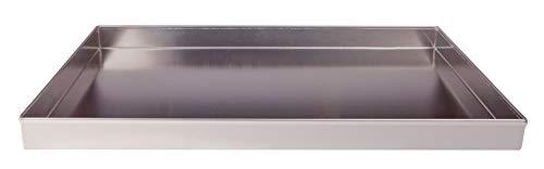 Pentole agnelli pasticceria e pizza teglia rettangolare in lega d'alluminio 3003 con bordi dritti, 60 x 40 x 4 cm