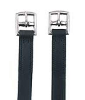 Kerbl Steigbügelriemen Leder, schwarz, 130 cm