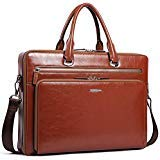 BOSTANTEN Sac Serviette en Cuir Véritable Hommes de Business Sac à Bandoulière Porte Documents Sac à Main Sac Messager Sac Ordinateur Mallette Marron