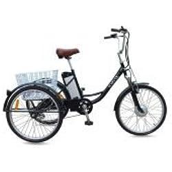 """Jorvik 26""""plegable eléctrico triciclo 36V 250W adultos triciclo/triciclo con discapacidad/carga/E, negro"""