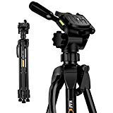 K&F Concept Light Pod TL2023 60 /152cm Professional Extendable Light Weight Travel Camera Tripod kit with 3 Aluminum Alloy Sections for Canon Nikon Sony Fujifilm DSLR Cameras