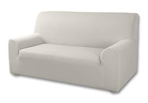 Velfont - Bielastischer Sofabezug Roma - 3-Sitzer -Elfenbein - verfügbar in verschiedenen Größen und Farben -