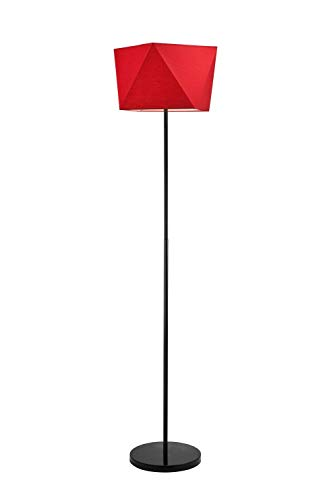 Justine - Lámpara de pie (170 cm de alto, pantalla de tela moderna ...