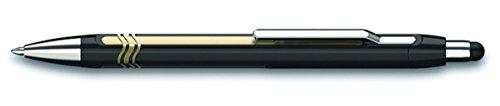 Schneider Epsilon Touch Druckkugelschreiber (Strichstärke XB, dokumentenechte Mine- Schreibfarbe: blau, inkl. Touchpen, Made in Germany) Schaftfarbe: schwarz-gold Touch-slider