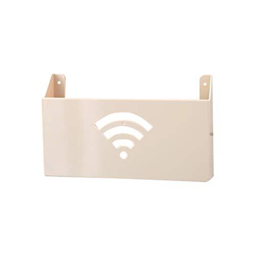 Yardwe Estante Router Pared WiFi Cable Cajas Almacenamiento(Beige)