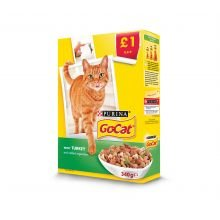 Go Cat Türkei & Veg, 340g x 6 -