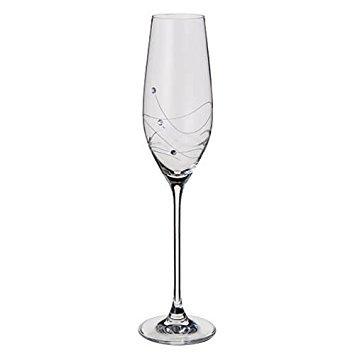 Dartington Crystal Glitz - Flûte en Cristal Transparente