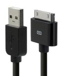 Original AKTrend® (schwarz) USB Datenkabel für Apple iPhone 4 / 4S / 4G / 3G / 3GS / 2G / iPod Ladekabel Netzteil Ladegerät -