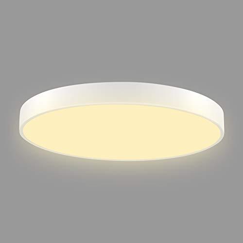 Deckenlampe Led, 48W Ultraslim LED Deckenleuchte für Badezimmer, Schlafzimmer, Küche, Balkon, Korridor, Büro, Esszimmer, Wohnzimmer, Warmweiss