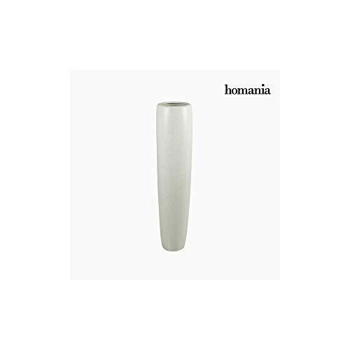 Vase de sol Céramique Blanc (23 x 23 x 101 cm) by Homania