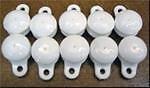 Piscina cubierta Solar accesorios–blanco prensa Conectores de fijación con bucle X 10