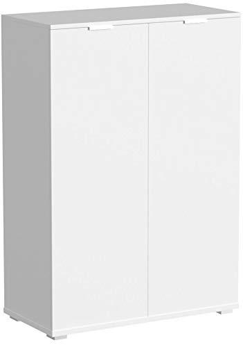Deuba Kommode Highboard Alba mit 2 Türen 71 x 101 x 35 cm Sideboard Anrichte Beistellschrank Holz, Weiß