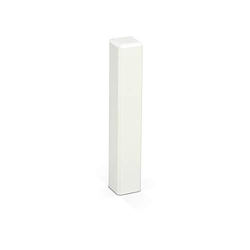 KGM Eckturm 4er Vorteilspack | Höhe 105mm | ✓Massiv ✓Echtholz weiß ✓weiß lackiert | Außenecken Innenecken & Leisten Verbinder | Saubere Übergänge zwischen Ihren Sockelleisten | Ecktürme weiß