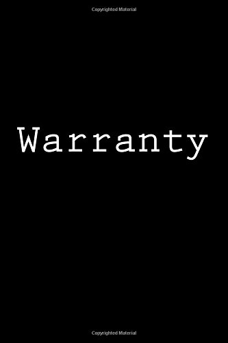 Warranty: Notebook