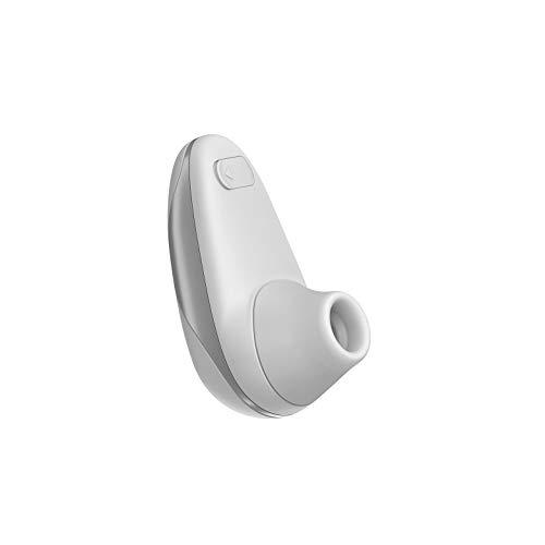 Womanizer Starlet Auflege-Vibrator, Klitoris Stimulator Sauger mit 4 Intensitätsstufen, klein und handlich, Snow