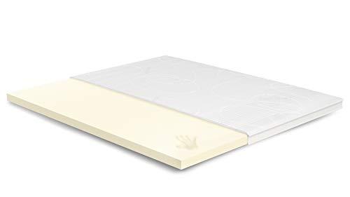 7cm Visco Topper 215x220 cm - Aloe Vera Bezug mit 3D-Mesh-Klimaband & Stegkante - 5cm Visco RG 50 - Matratzenauflage 215x220 für Ihr Bett