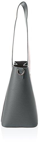 Chicca Borse Damen 8886 Schultertasche, 31x26x16 cm Grigio (Grigio)