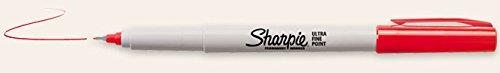 Tin Cup Golfball Markierungssystem Sharpie Stift. Rot. Ultrafeine Spitze.