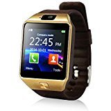 Yuntab SW01Watch Bluetooth Smart Watch Fitness Handgelenk-Verpackungs-Uhr-Telefon mit Kamera-Touch Screen für iPhone Samsung HTC LG Android Phone Smartphone mit SIM-Karte (Braun) -