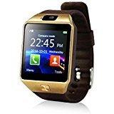 Yuntab SW01Watch Bluetooth Smart Watch Fitness Handgelenk-Verpackungs-Uhr-Telefon mit Kamera-Touch Screen für iPhone Samsung HTC LG Android Phone Smartphone mit SIM-Karte (Braun) (Handyuhr Lg)