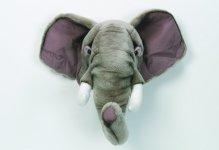 Bibib Trophée - Tête d'Eléphant en Peluche