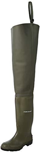 Stivali professionali Dunlop professionali da pesca, senza puntale in acciaio - 386VP (Verde, 42)