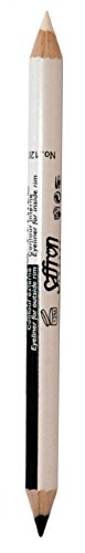 Black and White duo eyeliner pencil by Saffron (Duo Pencil Eyeliner)