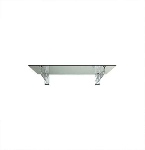 120 x 90 cm Glasvordach Vordach Türvordach Türdach Haustür Klarglas Glas Edelstahl VSG