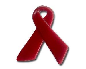 Pin: Red Ribbon / Red Ribbon 29 mm