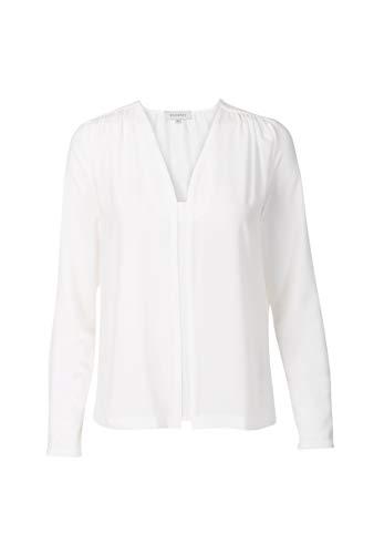 Promiss Damen Bluse Einfarbig Weiß Tash, Offwhite, 38