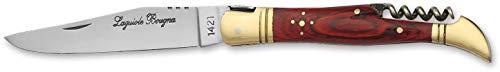 laguiole artisan 5378 Rouge Sommelier Corkscrew Knife 12cm Folded Laguiole, Pocket
