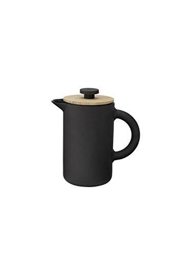 Stelton x-636  – Kaffeebereiter, Pressfilterkanne – Theo – 0,8 Liter – Keramik – schwarz