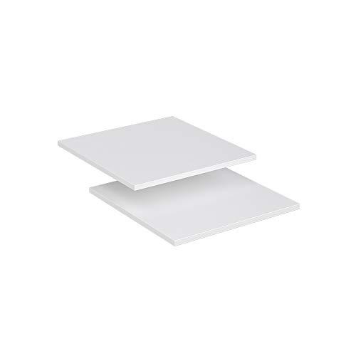 Vicco Kleiderschrank Comfort offen begehbar Regal Kleiderständer Schrank weiß (50er Einlegeboden)