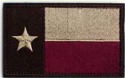 Morton Home-Tactical American US Texas Lonely Star Flag Patch Dekorative bestickte Applikationen, 5,1 cm hoch x 8,1 cm breit violett