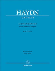 BARENREITER HAYDN J. - L'ISOLA DISABITATA HOB. XXVIII:9 - CHANT, PIANO Partition classique Vocale - chorale Voix solo, piano