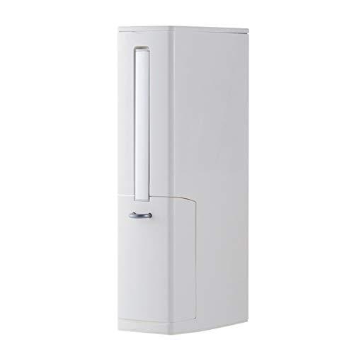4 in 1 Multifunktions-Badezimmer-Zubehör - 2,5 L Mülleimer und WC-Bürste mit Halter und Toilettenpapier Lagerung - weiß (Papierkorb Liner)