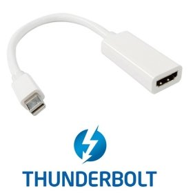 Mac Video Adapter (chenyang weiß Farbe Thunderbolt Port zu HDMI Weiblich Adapter Kabel mit Audio-Video für Apple MacBook 2011 2012 2013)