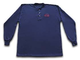 CaseXX XX Navy Blue Long Sleeve Small T-Shirt Henley Cotton Jersey