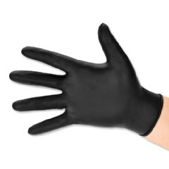 BODYGUARD GL8972 Nitrile Powder Free Gloves, Set of 100 (Black) (Medium)