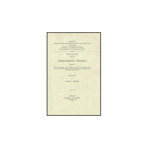 Athanasiana Syriaca, III. De Incarnatione Contra Arianos; Contra Apollinarium I; De Cruce Et Passione; Quod Unus Sit Christus; De Incarnatione Dei Verbi; Ad Jovianum. Syr. 143.